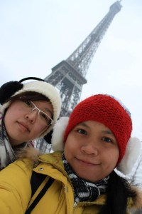 Tan (left) and Teo from UCSI University Kuching Campus also had the opportunity to visit Paris during their studies at Zibat in Denmark.