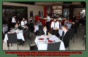 Work-based Diploma in Hotel Management students at the Mock Restaurant at UCSI University Sarawak