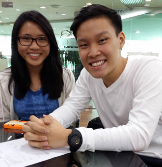 EduSpiral gave us detailed information about the course & took us around for a campus tour. Jen Hui, Pharmacy & Alvin Chai, A-Levels at UCSI University
