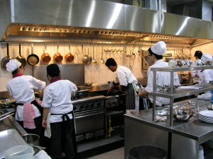 Production kitchen at First City University College