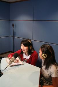 KDU College Penang Mass Comm students using the Recording Studio