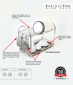 The Sabinai Dish Rack - June Lee's Award-Winning design, now being sold in the market produced by Sabinai.
