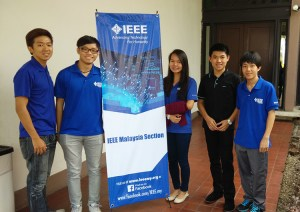 Basil (far right) and committee members from Curtin University Sarawak at the 25th IEEE Malaysia Section Annual General Meeting in Putrajaya