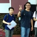 EduSpiral picked us up from KL Sentral & took us to Asia Pacific University for a campus tour as well as arranged the Software Engineering lecturer to explain the courses in detail to us. Chin Mun (Left) with friends from INTI, now studying Business Computing at APU