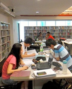 Well equipped library at HELP College of Arts & Technology