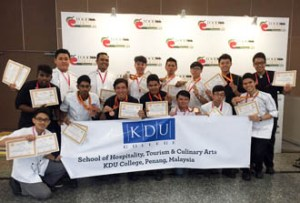KDU College Penang Victorious Culinary Students having won in the International Competition - Vietnam Culinary Challenge 2015 (VNCC)