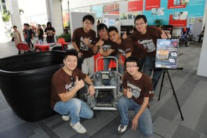 Taylor's University Engineering students showing their project at the Engineering Fair