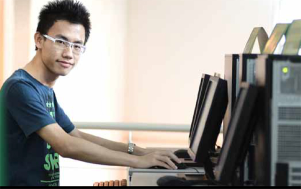 Computer lab at Multimedia University (MMU)