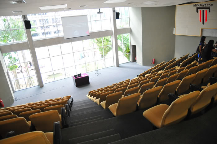 Lecture Theatre at Taylor's University with a view of the lake