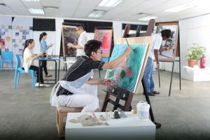 Drawing studio for design students at First City University College