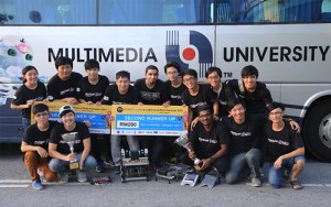 Multimedia University (MMU) RoboForce teams have won 2nd and 3rd places in Tunnel Escape Robot category in the Robot Games competition, which was held on 24th May 2015 in Putrajaya in conjunction with the Festival Belia Putrajaya 2015.