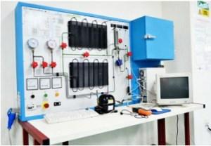 Domestic Refrigeration Trainer at the Fluid Mechanics Lab for Engineering students at Multimedia University (MMU) Melaka