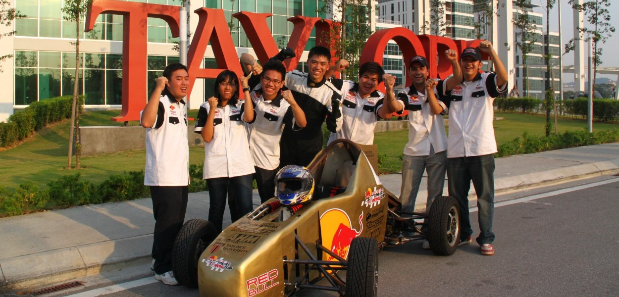 Formula Varsity Race Champion car designed by students from the School of Engineering at Taylor's University