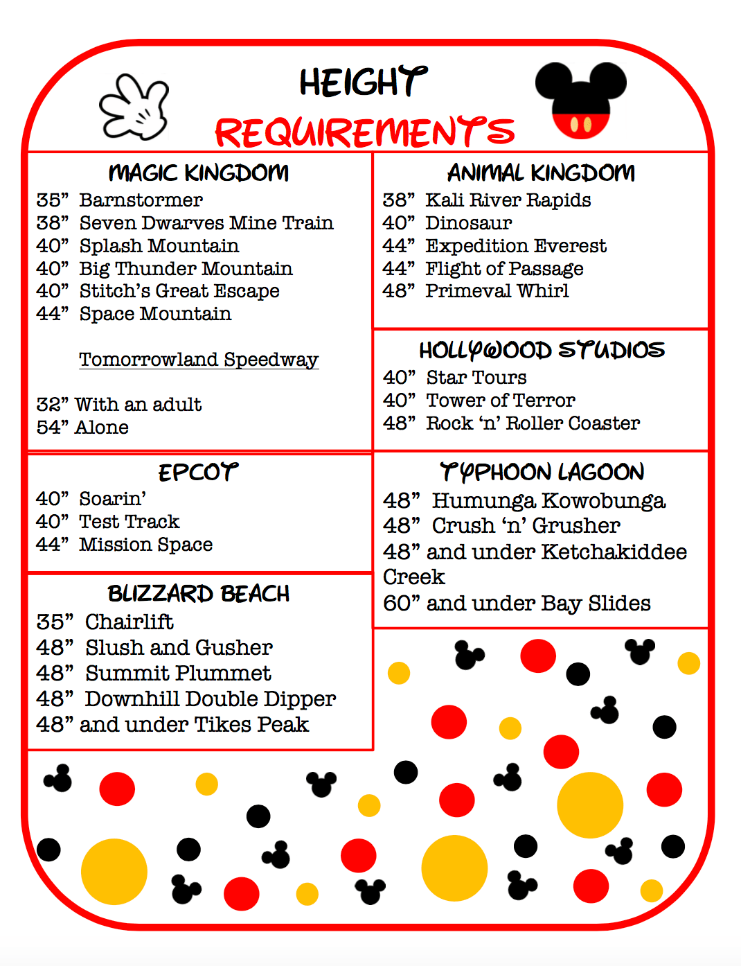 Free Disney World Planner Printables Edutaining