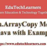System.ArrayCopy Method in Java with Example