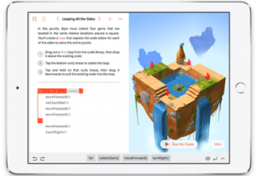 coding for kids - swift playgrounds interface