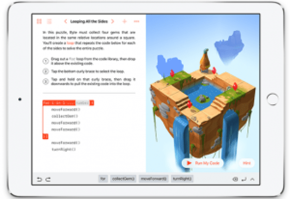 swift playgrounds interface learn to code