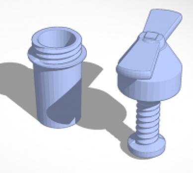 garlic press 3D print
