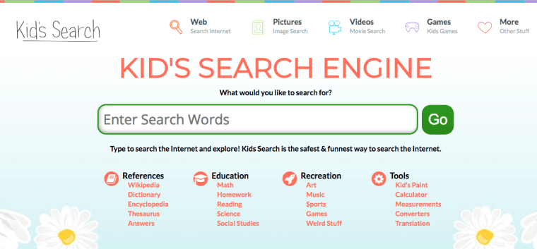 https://kidssearch.com/ safe search engine for kids