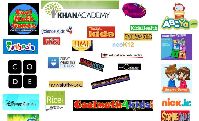 useful websites providing educational games for kids