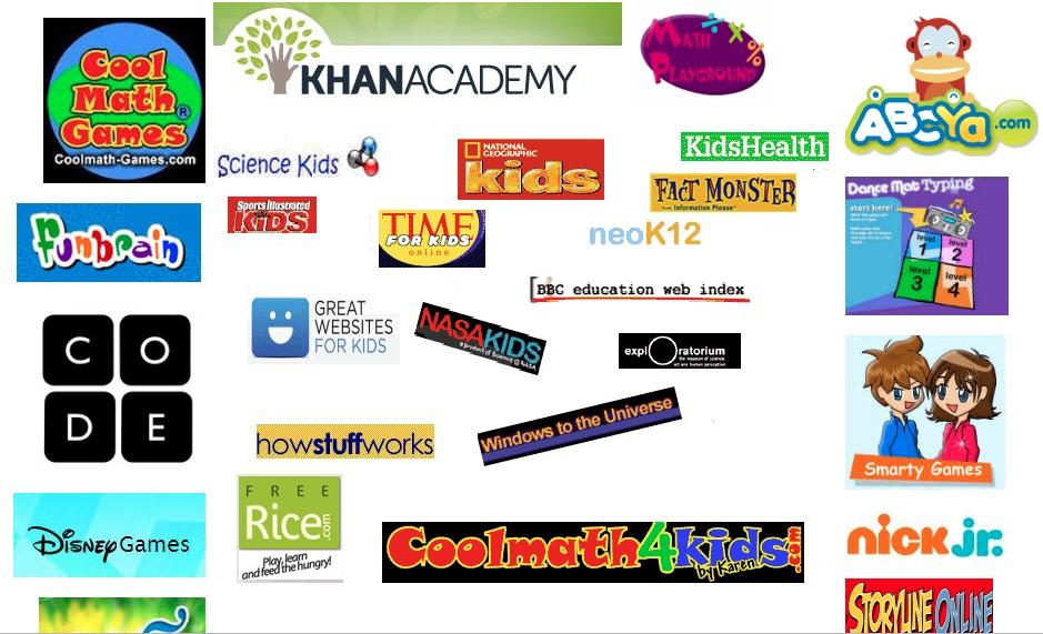 useful websites providing educational games for kids