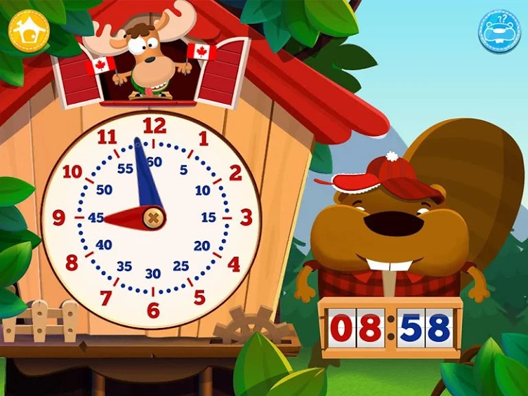 Tic Toc Time android app to teach kids tell time