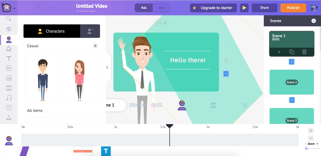 flat design explainer video maker online free for educational purposes animaker.com