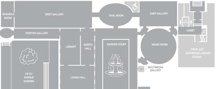 Building Map at Frick Collection Museum Virtual Tour