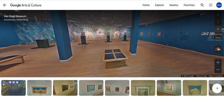 Van Gogh Virtual Museum Tour with google walk