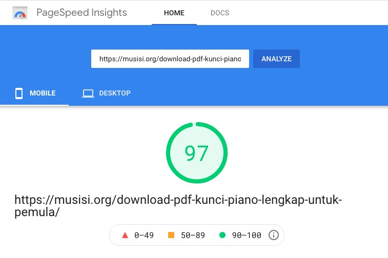 Generatepress page speed with google ads and flying script mobile