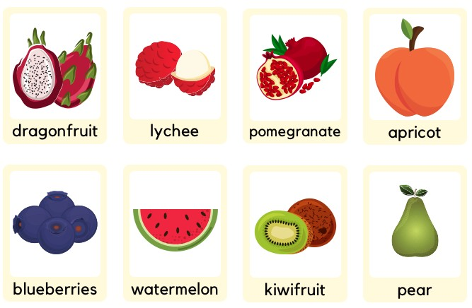 colorful fruits flashcards powerpoint free