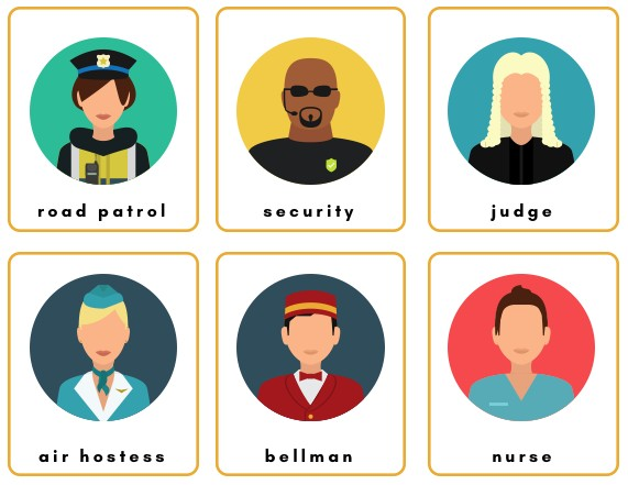 jobs interactive flashcards pictures