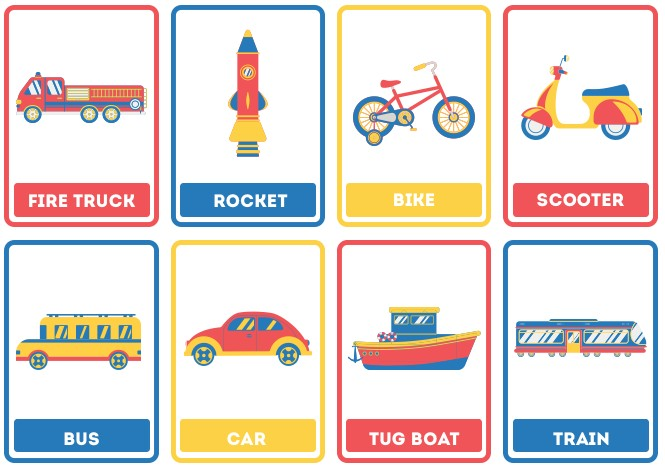 transportation flashcard