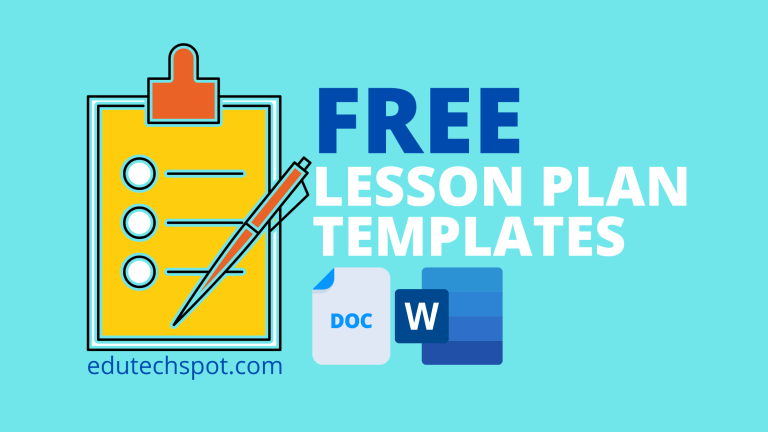 free download lesson plan templates word and google docs