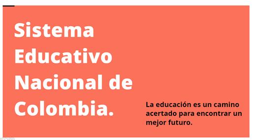 Presentación. Sistema Educativo Nacional.