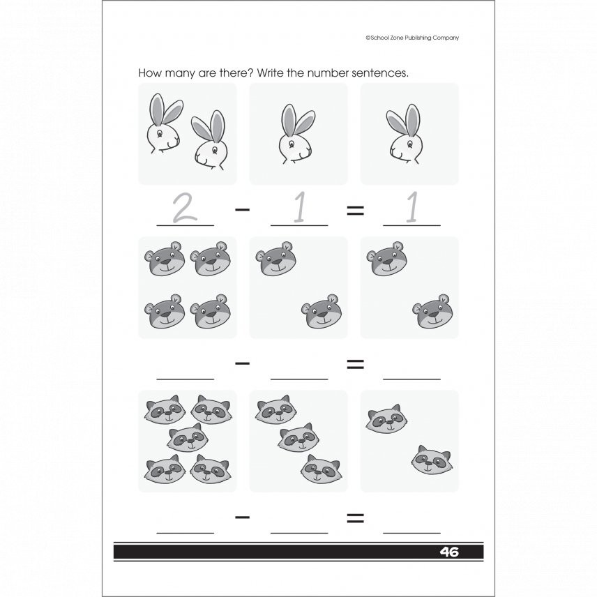 Get Ready for Math 48 Pages Activity Workbook for Grades K