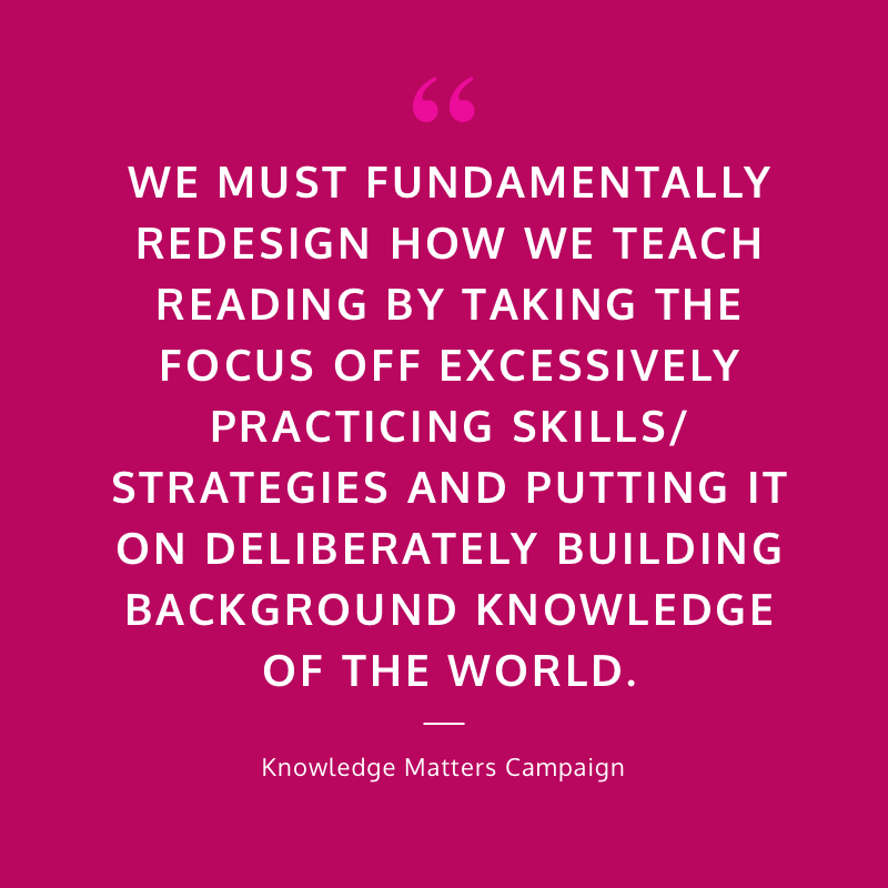 literacy reading content knowledge