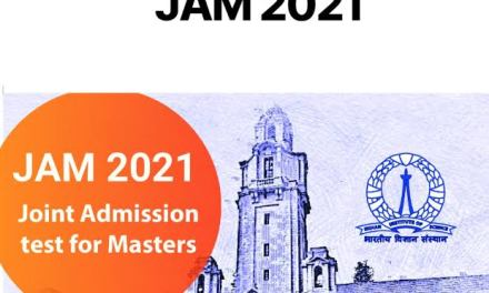 JAM 2021: അപേക്ഷ 15 വരെ