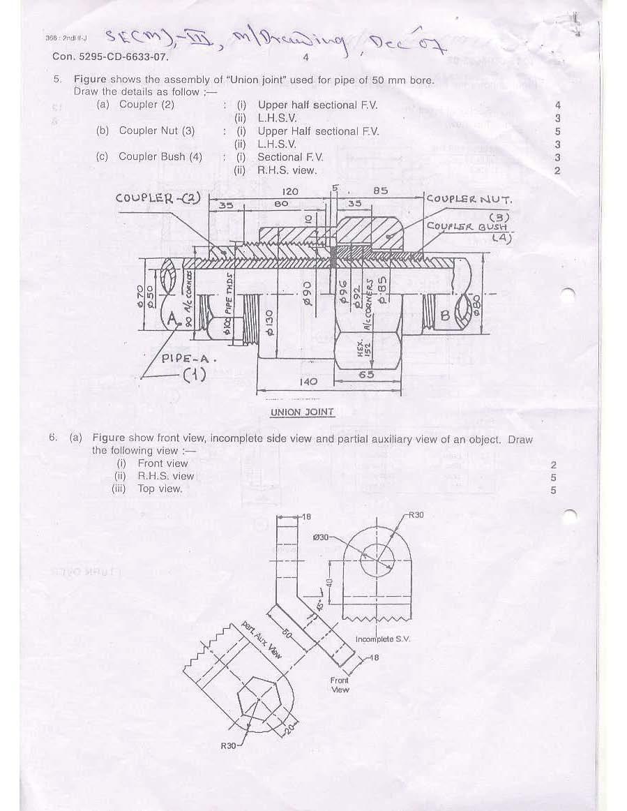 Mumbai University B.E Mechanical Engineering III Sem