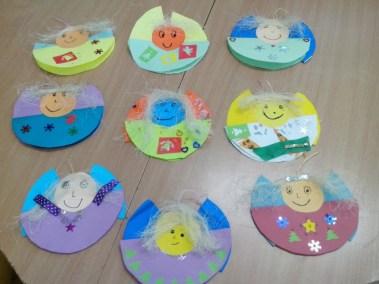 Aniołki na okrągło Dzień Anioła Izabela Kowalska Postacie (Prace plastyczne) Prace plastyczne