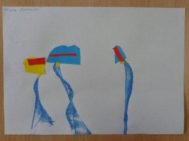 Baloniki z wełny i kolorowego papieru Karnawał Marlena Wrońska Prace plastyczne Prace plastyczne (Boże Narodzenie) Prace plastyczne (Karnawał)