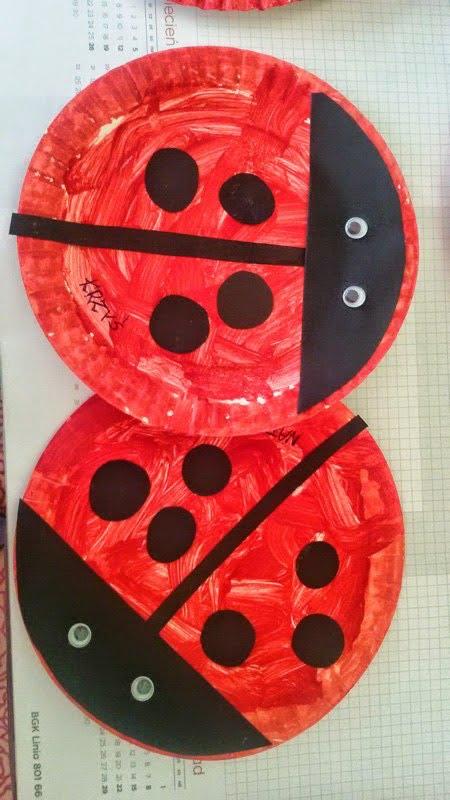 Kreatywne Prace Dla Dzieci Biedronka Z Papierowych Talerzykow