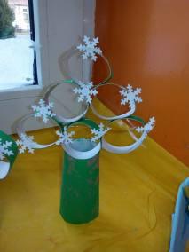 Choinki z rolek Kreatywnie z dzieckiem Monika Okoń Prace plastyczne (Boże Narodzenie) Święta Zima