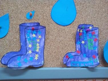 Kalosze farbą malowane Dzień Wody Jesień (Prace plastyczne) Monika Okoń Prace plastyczne Prace plastyczne (Dzień Wody) Wiosna (Prace plastyczne)
