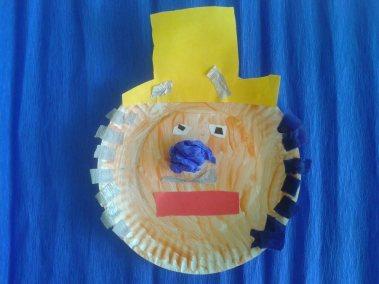 Klaun z papierowego talerzyka Karnawał Kreatywnie z dzieckiem Marlena Wrońska Postacie