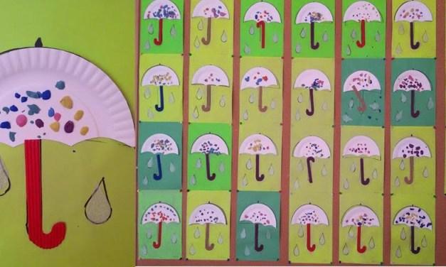 Kolorowe parasolki z papierowych talerzy