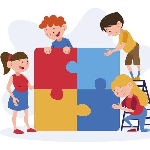 Gra online: Puzzle matematyczne: Rodzina Gry online Gry online (Dzień Babci i Dziadka) Puzzle matematyczne
