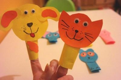 Paluszkowe pacynki - zwierzątka Aneta Grądzka-Rudziak Prace plastyczne Prace plastyczne (Dzień Zwierząt) Światowy Dzień Dzikiej Przyrody Światowy Dzień Zwierząt