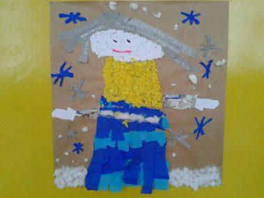 Pani Zima z bibuły Kreatywnie z dzieckiem Marlena Wrońska Zima