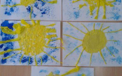 Słoneczko – wyklejanka